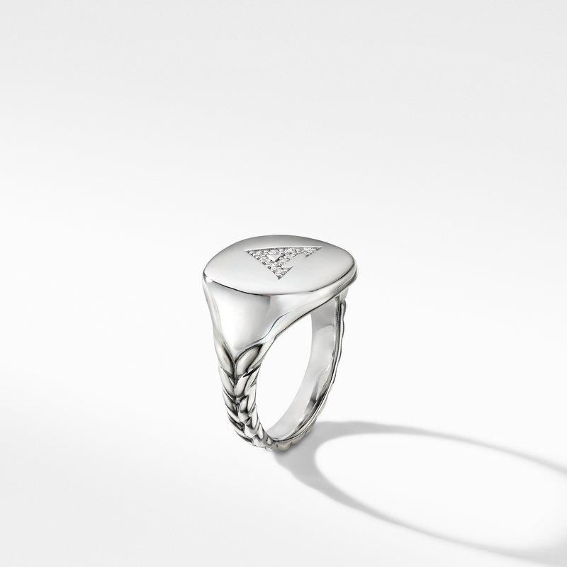 David Yurman DY Initial Pinky Ring