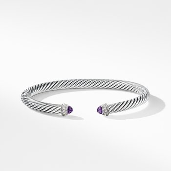 Cable Classics Bracelet with Amethyst and Diamonds,