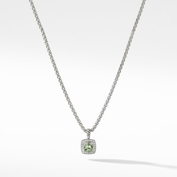Petite Albion® Pendant Necklace with Prasiolite and Diamonds