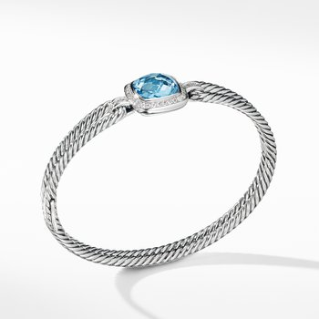 Albion® Bracelet with Blue Topaz and Diamonds