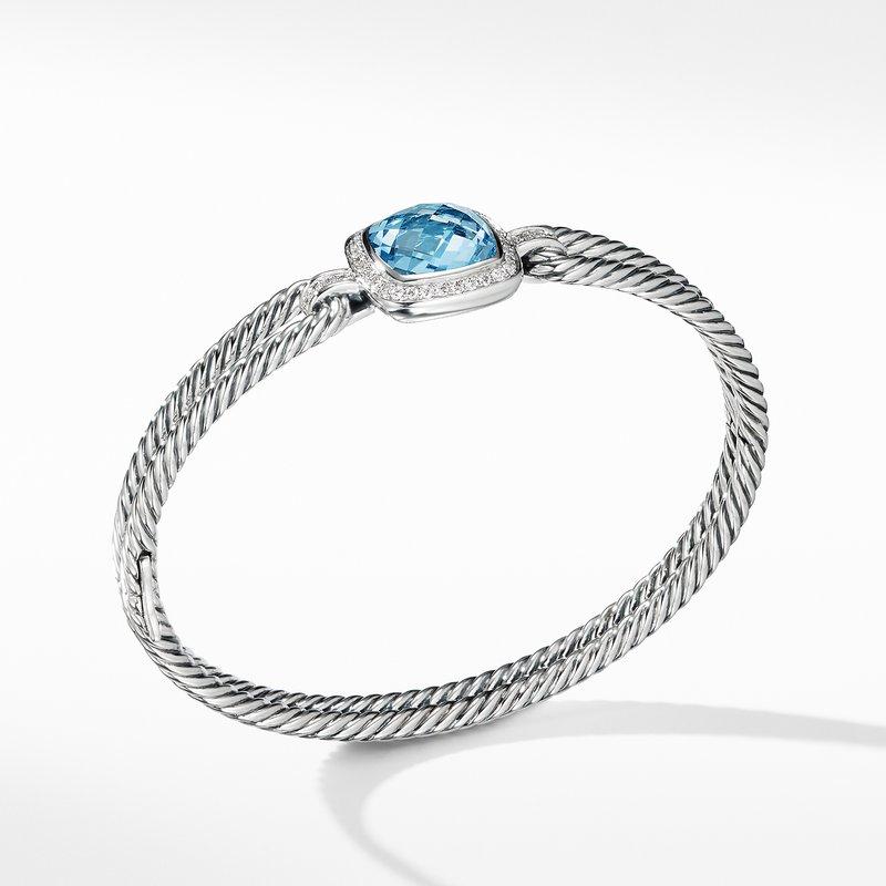 David Yurman Albion® Bracelet with Blue Topaz and Diamonds