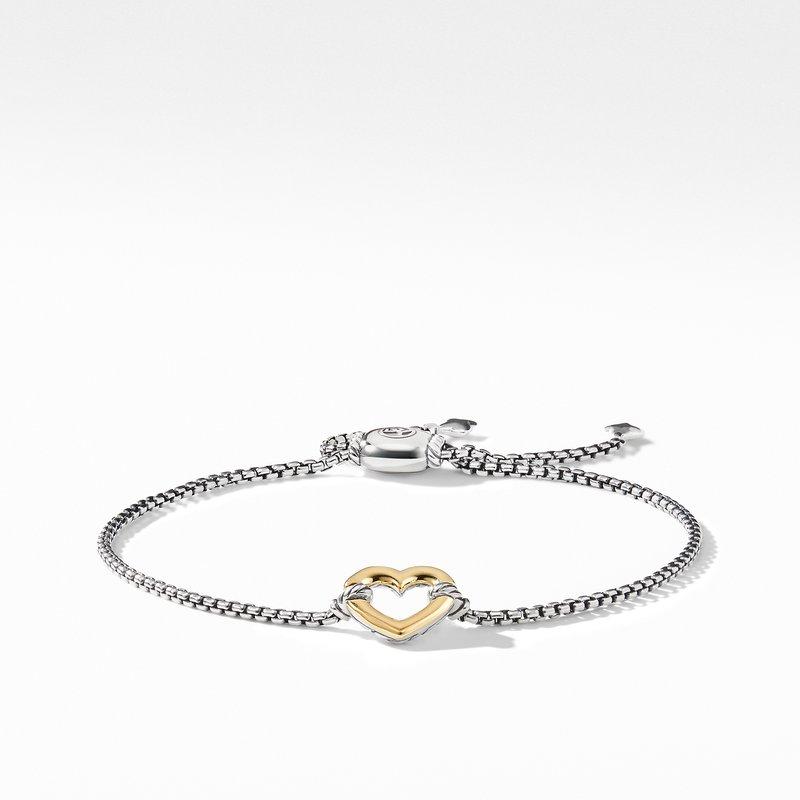 David Yurman Heart Station Bracelet with 18K Gold
