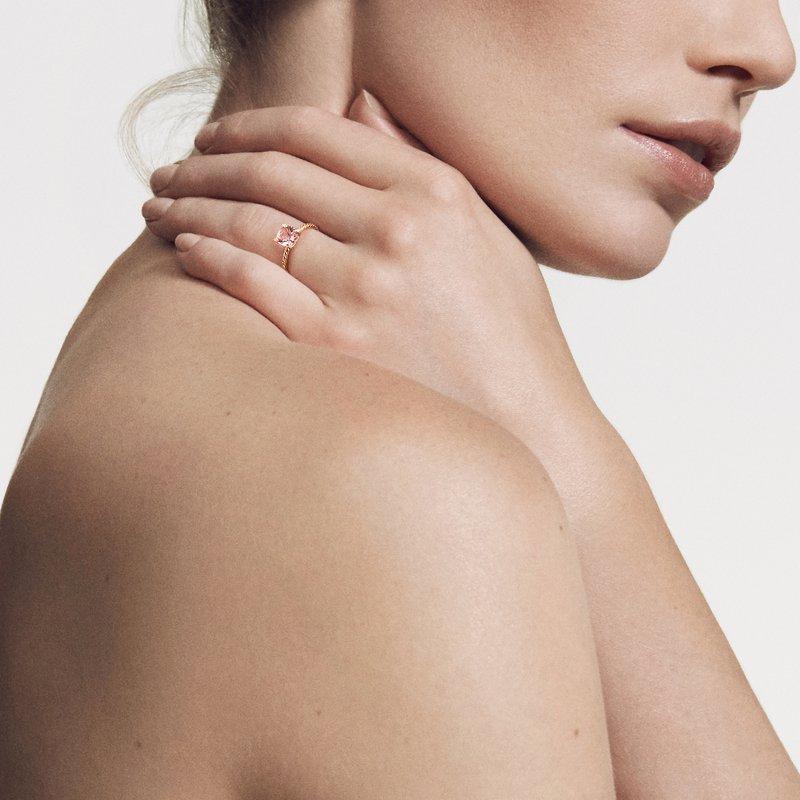 David Yurman Chatelaine® Ring with Morganite and Diamonds in 18K Rose Gold