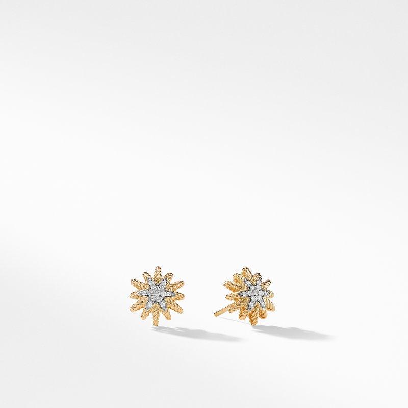 David Yurman Earrings with Diamonds in 18K Gold