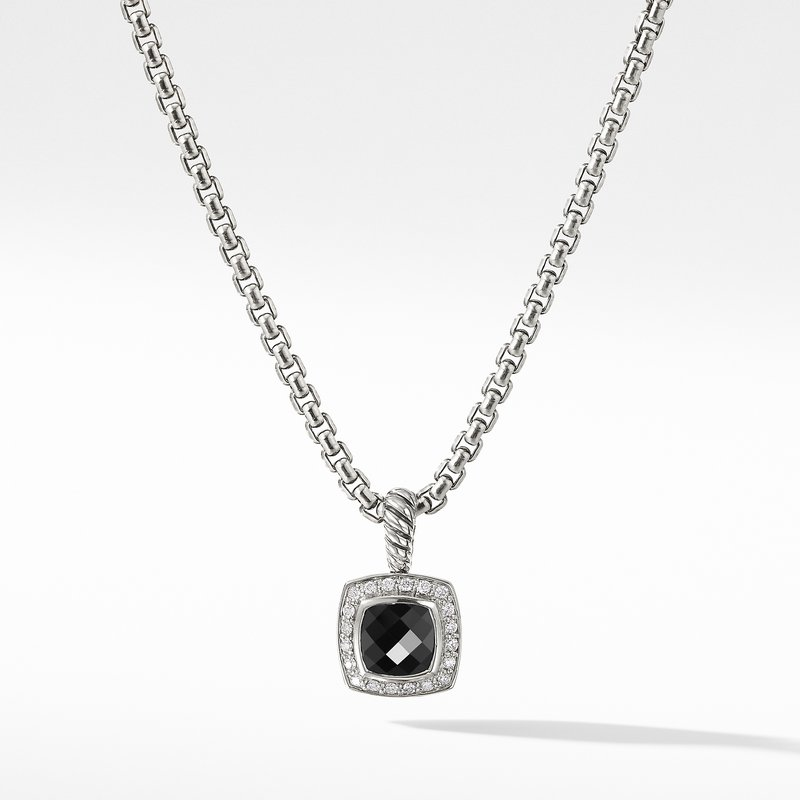 David Yurman Petite Albion® Pendant Necklace with Black Onyx and Diamonds