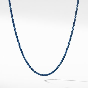 Box Chain Necklace in Blue