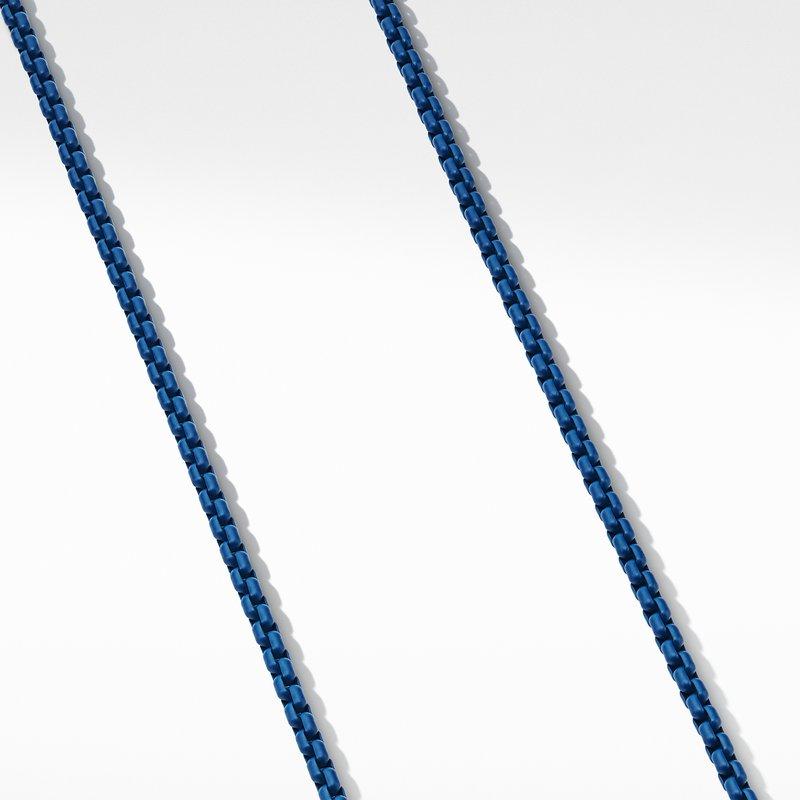 David Yurman Box Chain Necklace in Blue