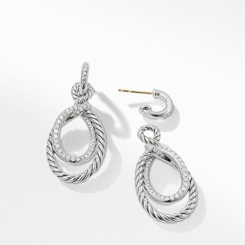 David Yurman Continuance Drop Earrings with Diamonds