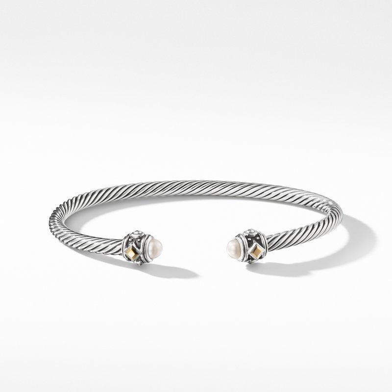 David Yurman Renaissance Bracelet with Pearls and 18K Gold