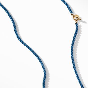 DY Bel Aire Chain Necklace in Navy with with 14K Gold Accents