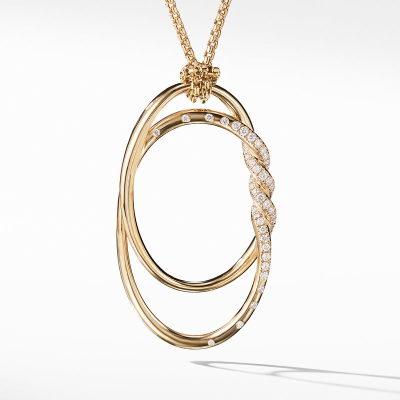 David Yurman Continuance Pendant Necklace with Diamonds in 18K Gold