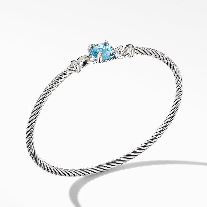 David Yurman Chatelaine® Bracelet with Blue Topaz and Diamonds