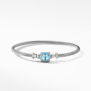 Chatelaine® Bracelet with Blue Topaz and Diamonds