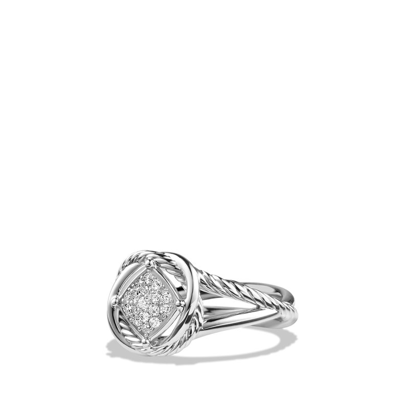 David Yurman Infinity Ring with Diamonds