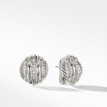 Tides Stud Earrings with Diamonds