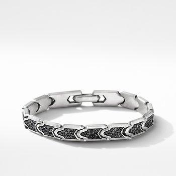 Link Bracelet with Pavé Black Diamonds