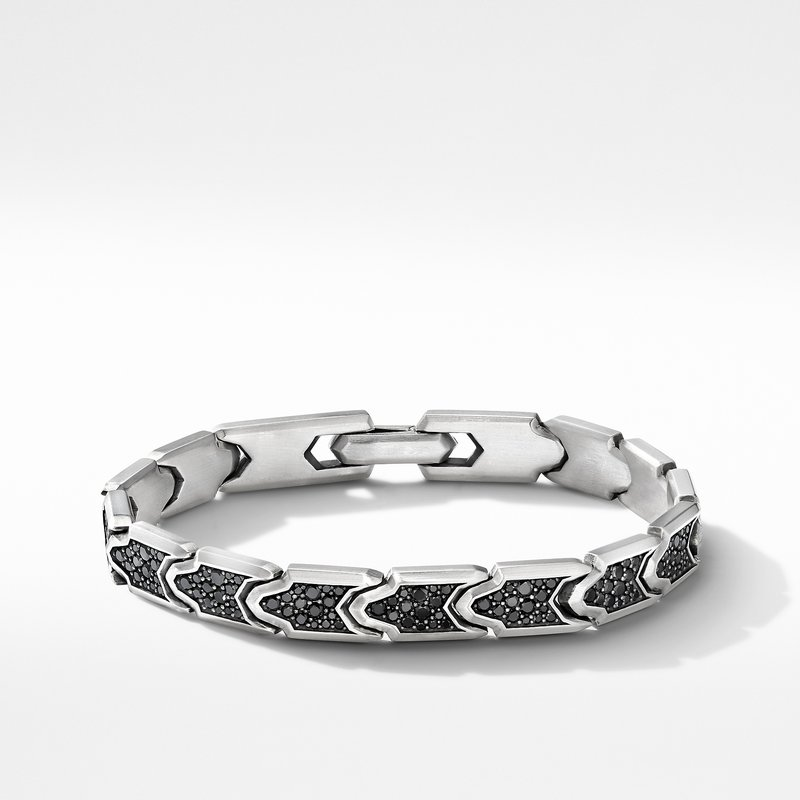 David Yurman Link Bracelet with Pavé Black Diamonds
