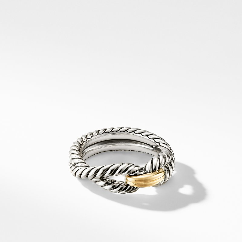 David Yurman Cable Loop Ring with 18K Gold
