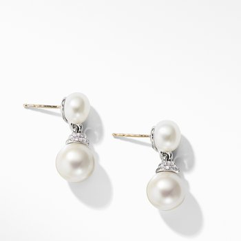 Continuance® Pearl Drop Earrings with Diamonds
