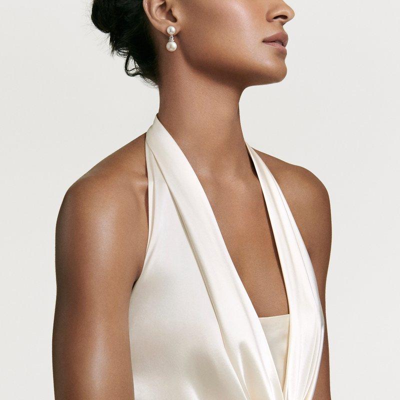 David Yurman Continuance® Pearl Drop Earrings with Diamonds