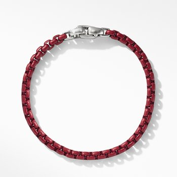 Box Chain Bracelet in Burgundy