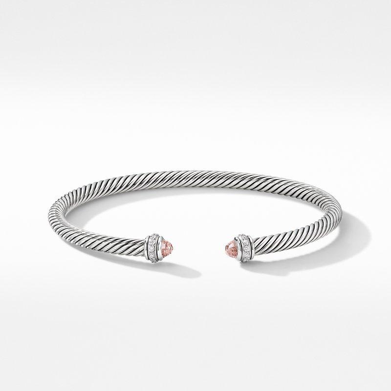 David Yurman Cable Classic Bracelet with Morganite and Diamonds