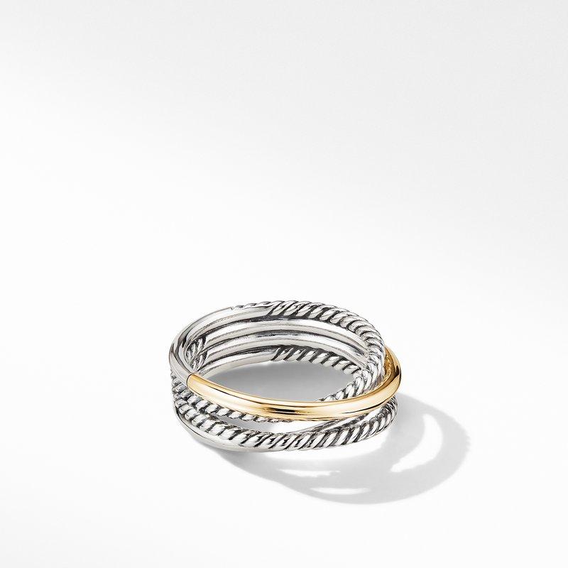 David Yurman Crossover Narrow Ring with 18K Yellow Gold