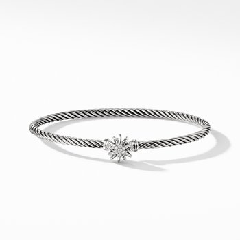 Starburst Single-Station Cable Bracelet with Diamonds