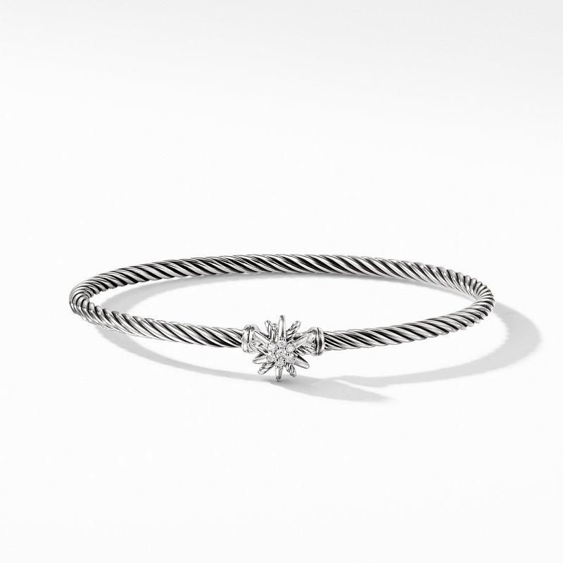 David Yurman Starburst Single-Station Cable Bracelet with Diamonds