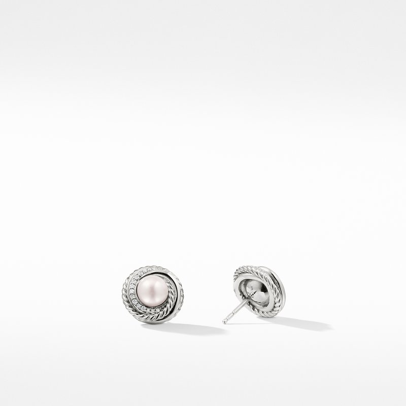 David Yurman The Crossover Collection® Earrings with Pearls and Diamonds