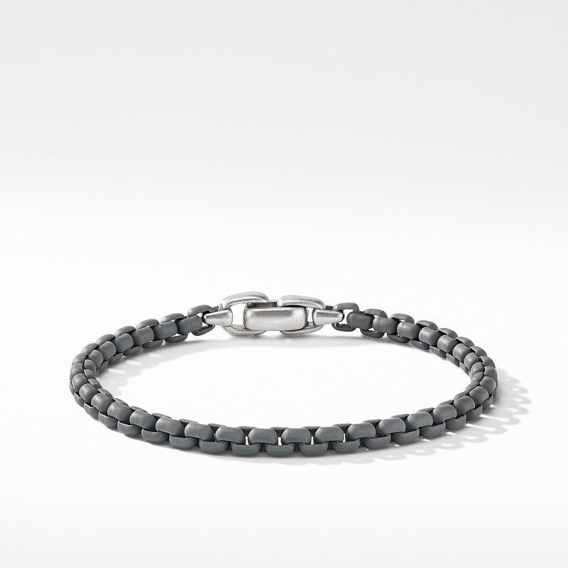 David Yurman Box Chain Bracelet in Grey