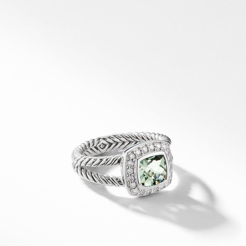 David Yurman Petite Albion® Ring with Prasiolite and Diamonds