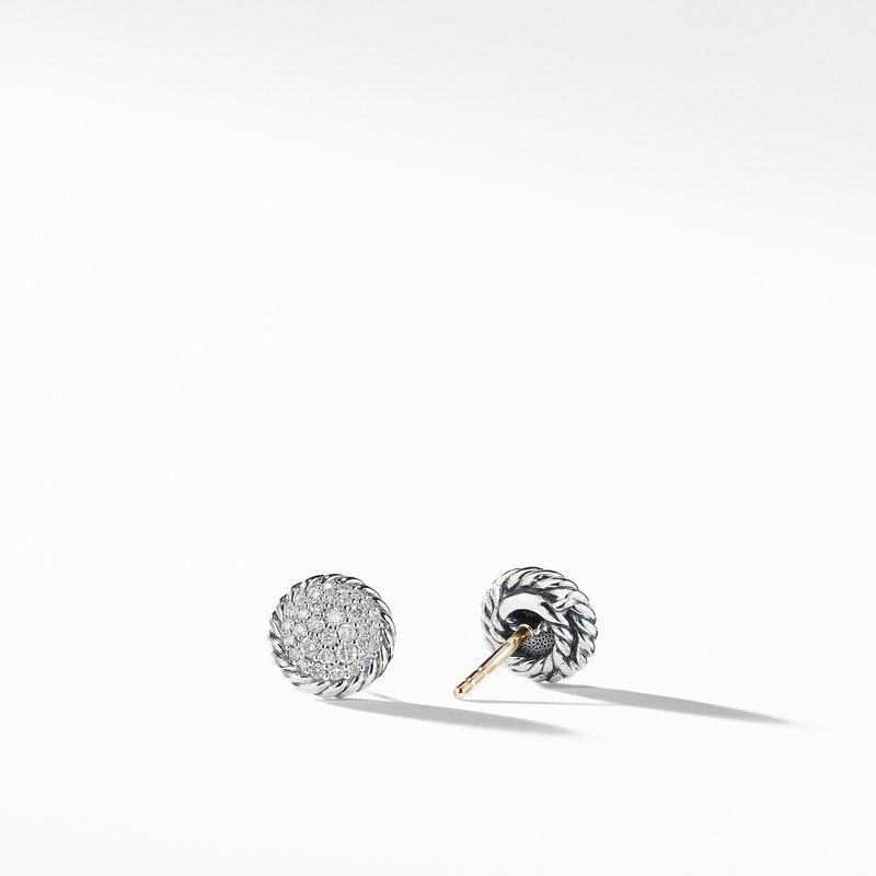 David Yurman Petite Pavé Earrings with Diamonds