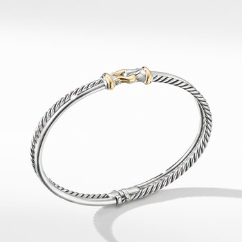 Two-Row Buckle Bracelet with 18K Yellow Gold