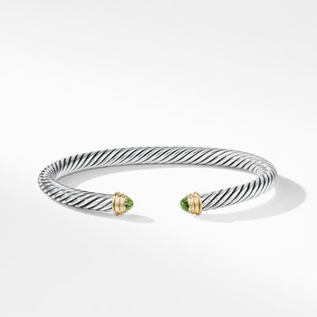 Cable Classics Collection® Bracelet with Peridot and 14K Gold