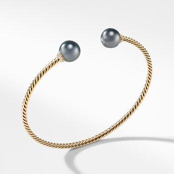 Solari Bead Bracelet with Tahitian Grey Pearl in 18K Gold