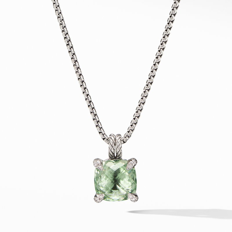 David Yurman Chatelaine® Pendant Necklace with Prasiolite and Diamonds