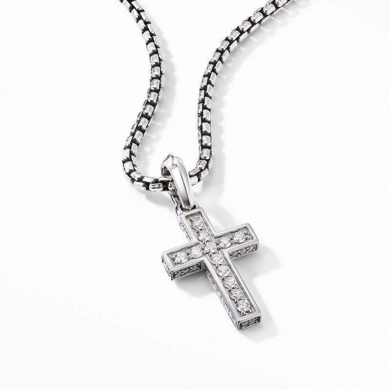 David Yurman Cross Pendant with Pavé Diamonds