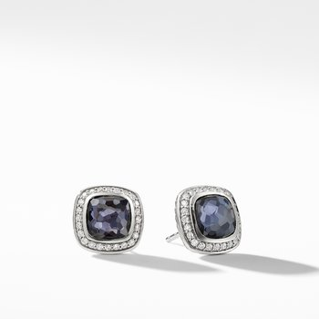 Albion® Earrings with Black Orchid and Diamonds