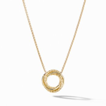 The Crossover Collection® Mini Pendant Necklace in 18K Yellow Gold with Diamonds