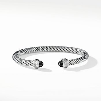 Cable Classics Collection® Bracelet with Black Onyx and Diamonds
