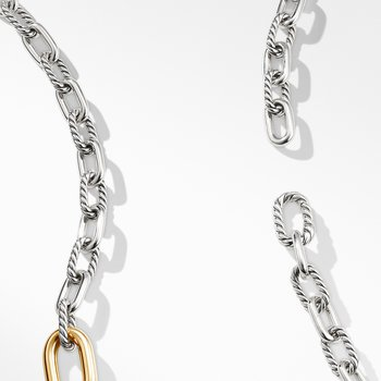 DY Madison® Convertible Chain Link Necklace with 18K Yellow Gold