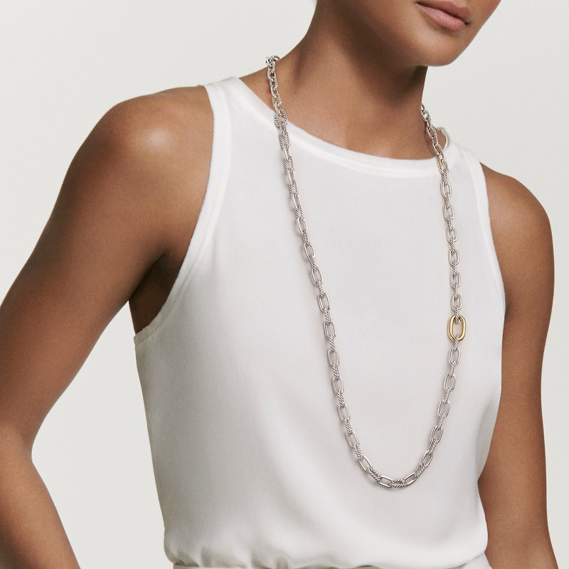 David Yurman DY Madison® Convertible Chain Link Necklace with 18K Yellow Gold