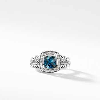 Petite Albion® Ring with Hampton Blue Topaz and Diamonds