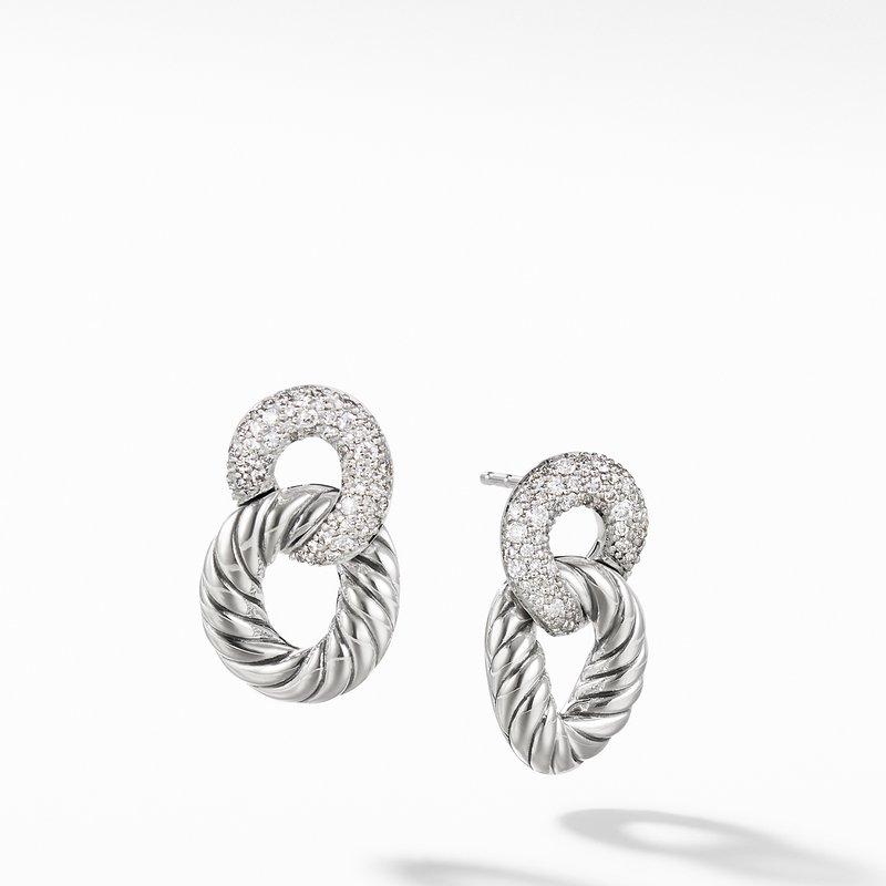 David Yurman Belmont® Curb Link Drop Earrings with Diamonds