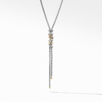 Helena Y Necklace with 18K Yellow Gold with Diamonds