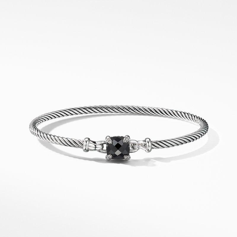 David Yurman Chatelaine® Bracelet with Black Onyx and Diamonds
