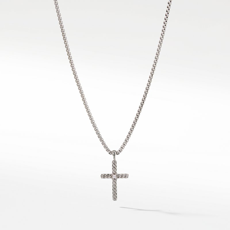David Yurman Cable Classics Collection® Cross Necklace with Diamond