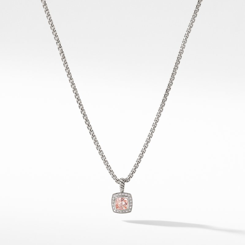 David Yurman Petite Albion® Pendant Necklace with Morganite and Diamonds