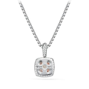 Petite Albion® Pendant Necklace with Morganite and Diamonds
